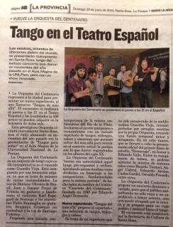 Diario La Arena, June 2015