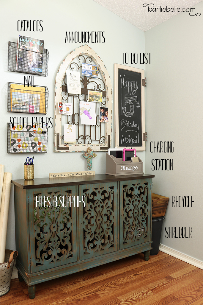 How to Create a Decorative Family Command Center - Karlie Belle
