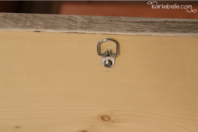 How to Make a Gather Wooden Sign- Adding Hardware