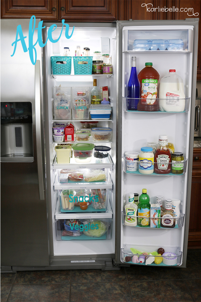 Tackling your Home Project List- Refrigerator Organization- After