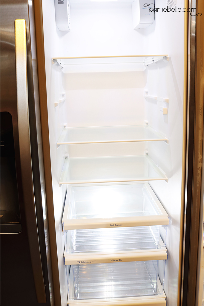 Tackling your Home Project List- Refrigerator Organization- Cleaned Out