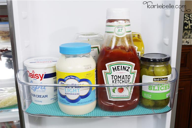 Tackling your Home Project List- Refrigerator Organization- Shelf Liner