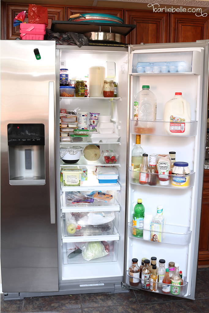 Tackling your Home Project List- Refrigerator Organization- before
