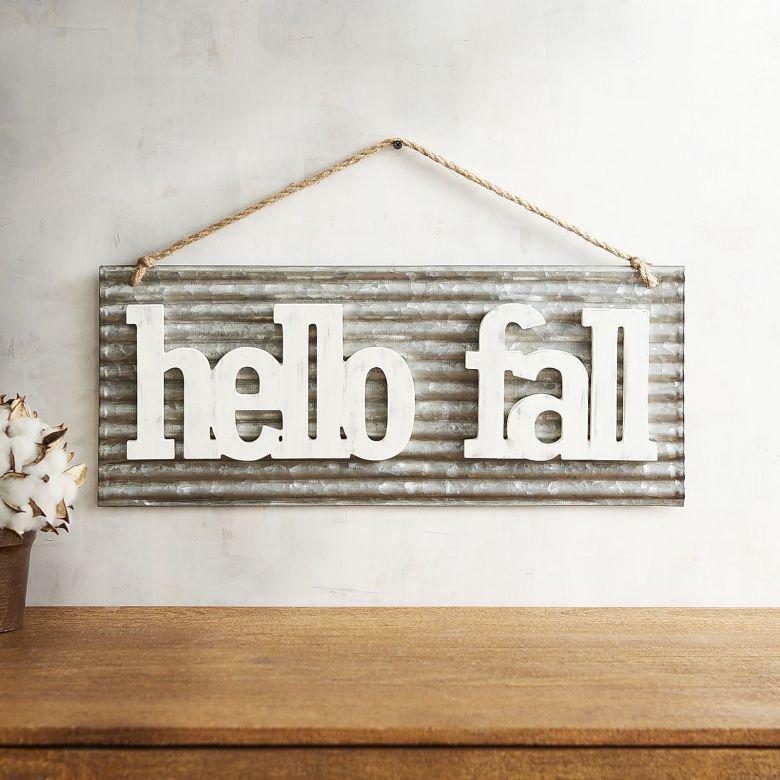 Neutral Fall Decor Hello Fall Sign Pier 1