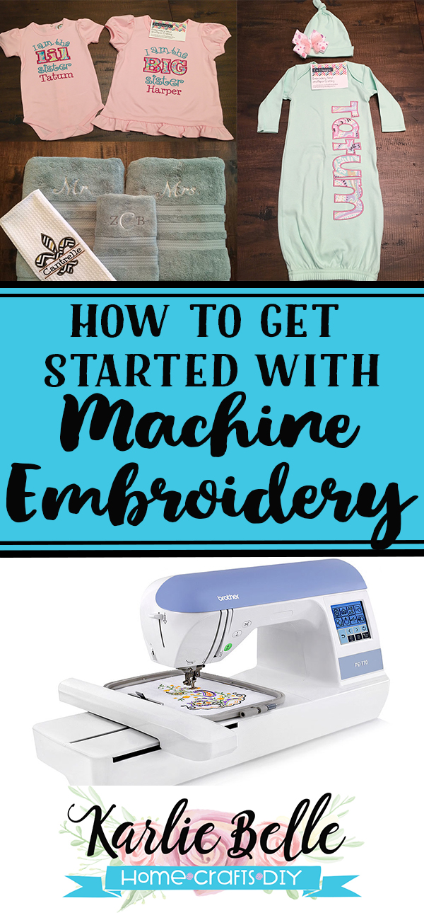 How to get started with machine embroidery supplies you