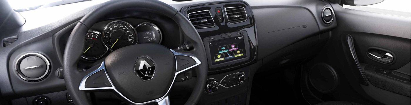 Renault Sandero INTERIOR radio y panel