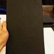 Classic black menu front