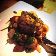 sirloin steak with lobster & prawn butter