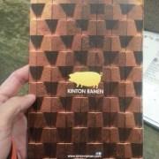 KINTON RAMEN menu