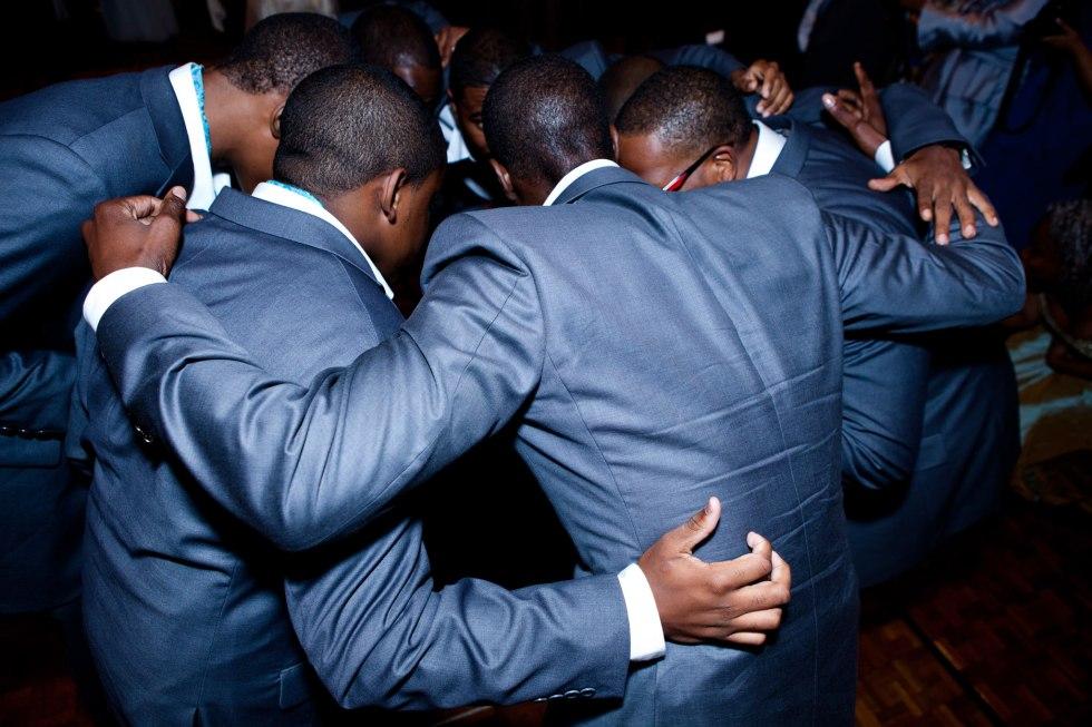 men-huddle