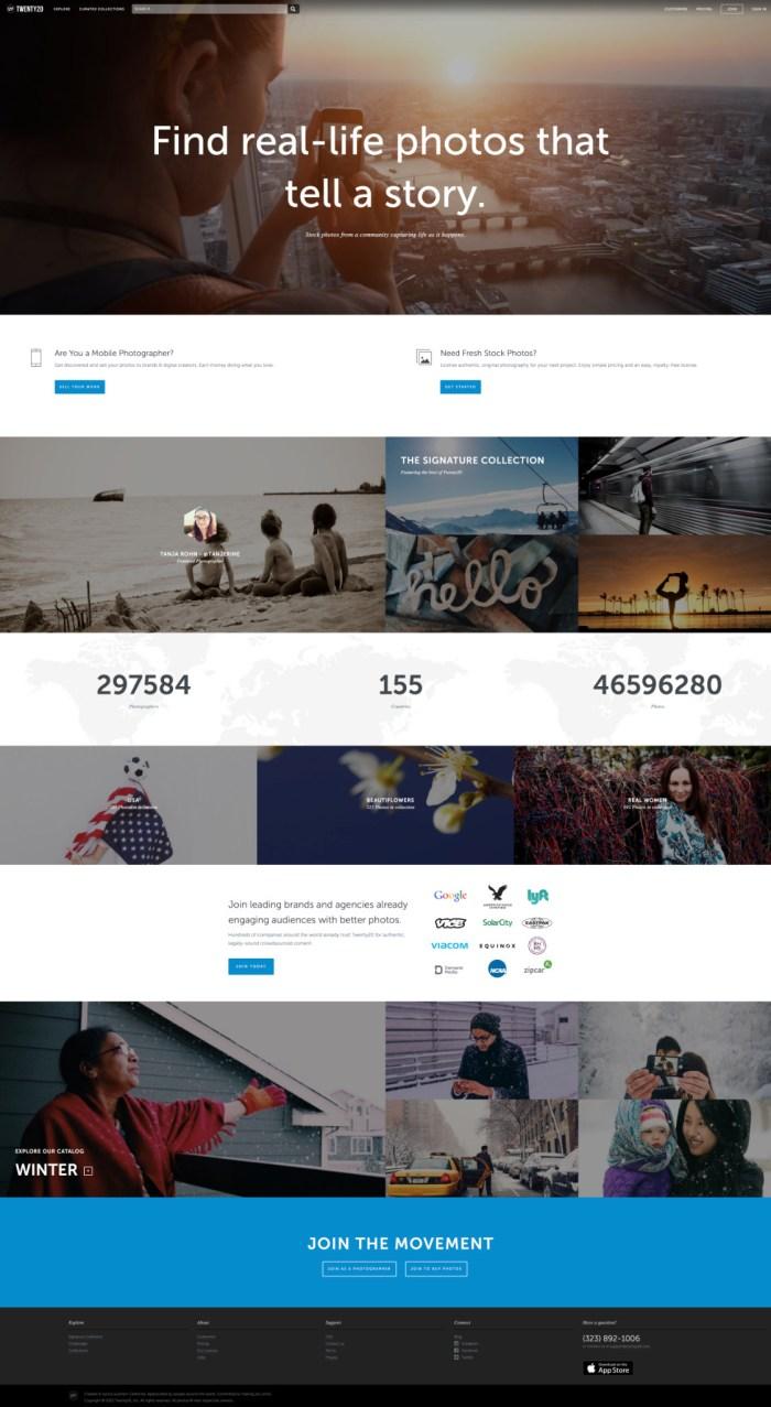 Twenty20 online photography portfolio