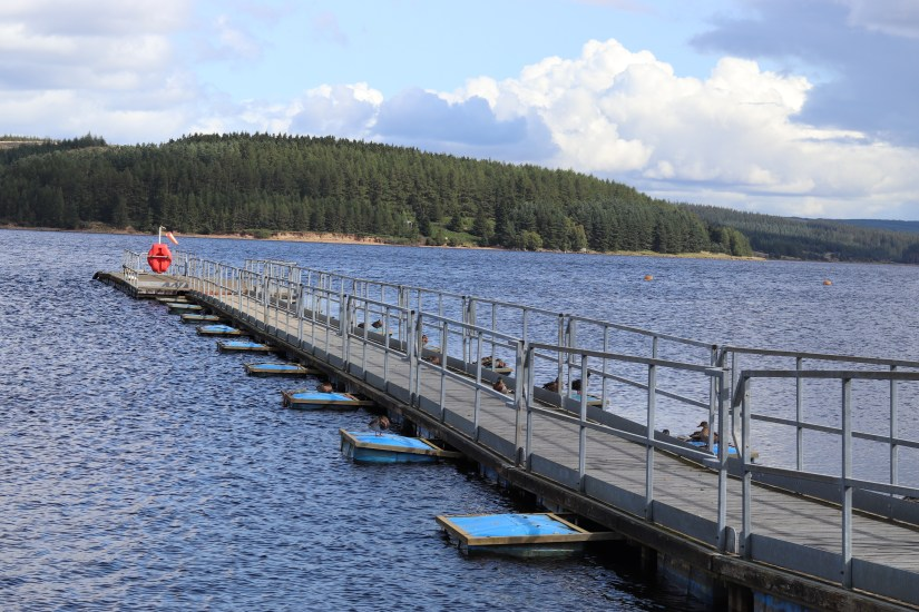 The jetty at Kielder Waterside, Northumberland