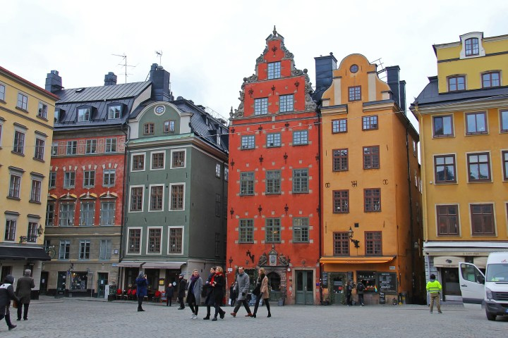 Start your 2 days in Stockholm in the Gamla Stan. Stortoget is the main public square in the Gamla Stan and is surrounded by colourful buildings.