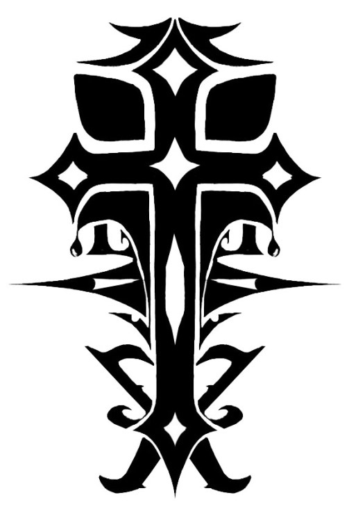 Karmaela: Cross tattoo design