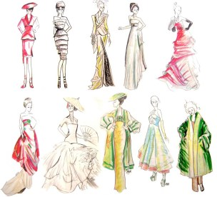 Rapid Fashion Drawings