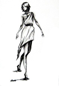 Karmaela Grecian Fashion Sketch