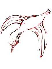 Karmaela Designs: bird Tattoo design Logographics