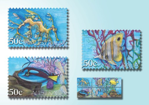 Karmaela Tropical Stamps 1