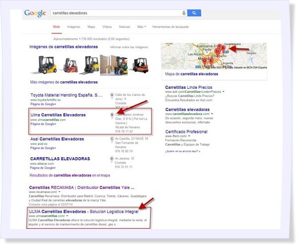 posicionamiento google maps