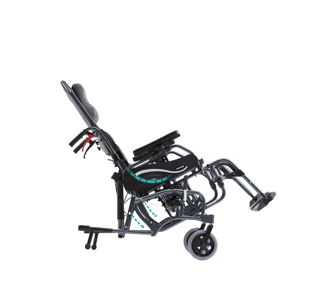 Vip 515 Tilt In Space Folding Wheelchair Karma Medical