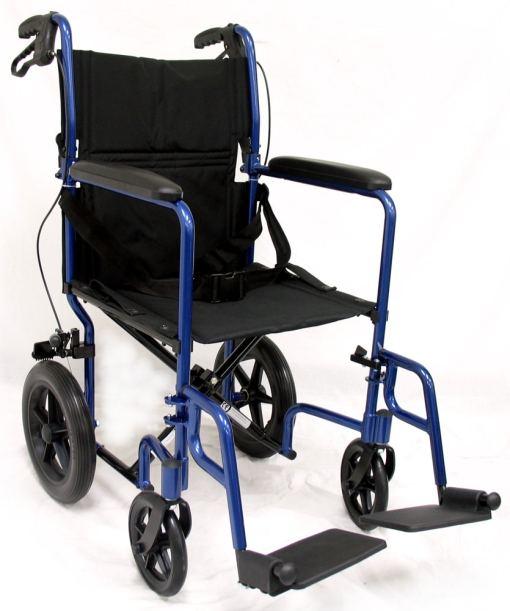 lt-1000 transport wheelchair aluminum