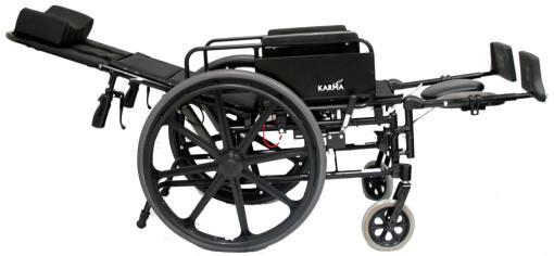 km5000f18 16xl lightweight reclining wheelchair