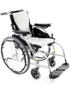 S-ERGO-106 Ultra Lightweight Wheelchair corner shot