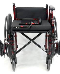 LT 770Q DetachArm -red streak wheelchair