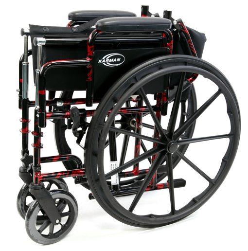 LT 770Q Folded - red streak wheelchair