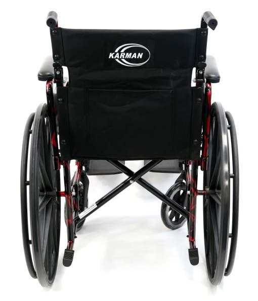 LT 770Q RearView - red streak wheelchair