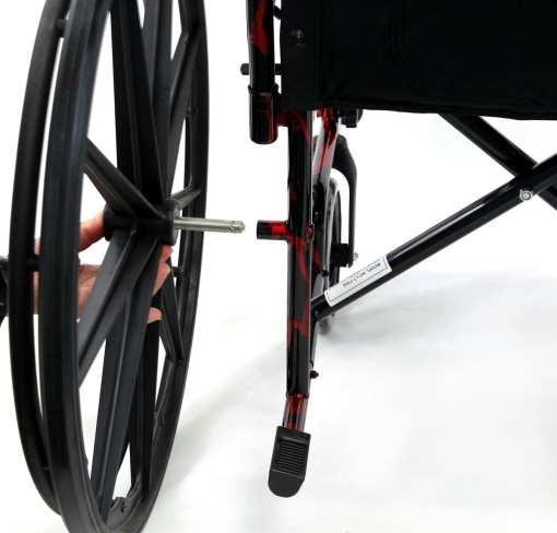Lt 770Q QuickRelease - red streak wheelchair