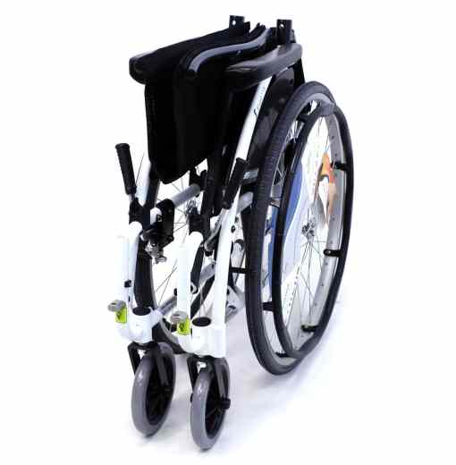 s 115 alpine white wheelchair folded
