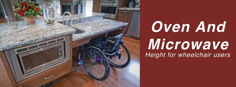 Oven And Microwave Height for wheelchair users