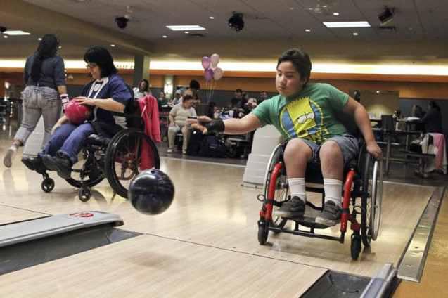 bowling in a wheelchair