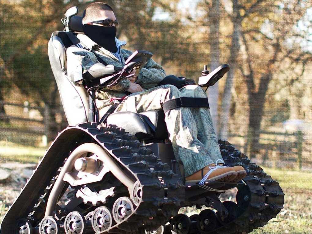 Tank wheelchair hunting