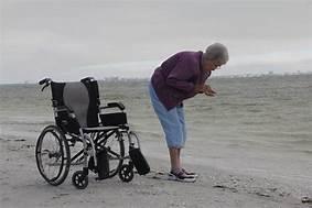 ergo flight wheelchair at the beach