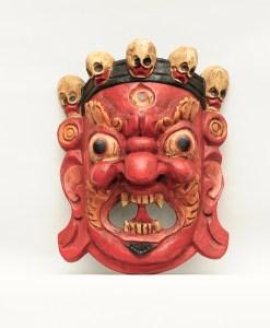 Mahakala Tibetan Wooden Mask