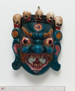 Mahakala Tibetan Wooden Mask Green