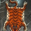 Hand knotted Tibetan Tiger Rug