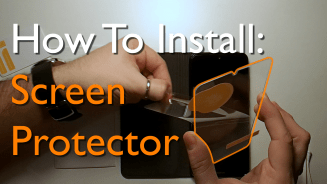 How to install a screen protector on Nokia 7.2