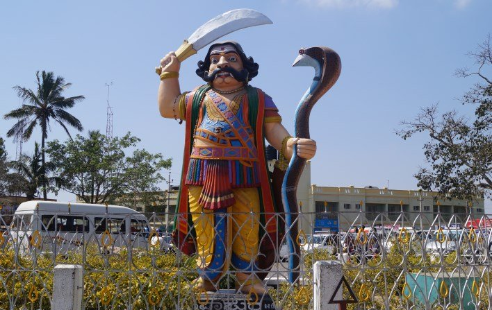 mahishasura mardhini statue on chamundi hills, mysore. Copyright Karnataka.com