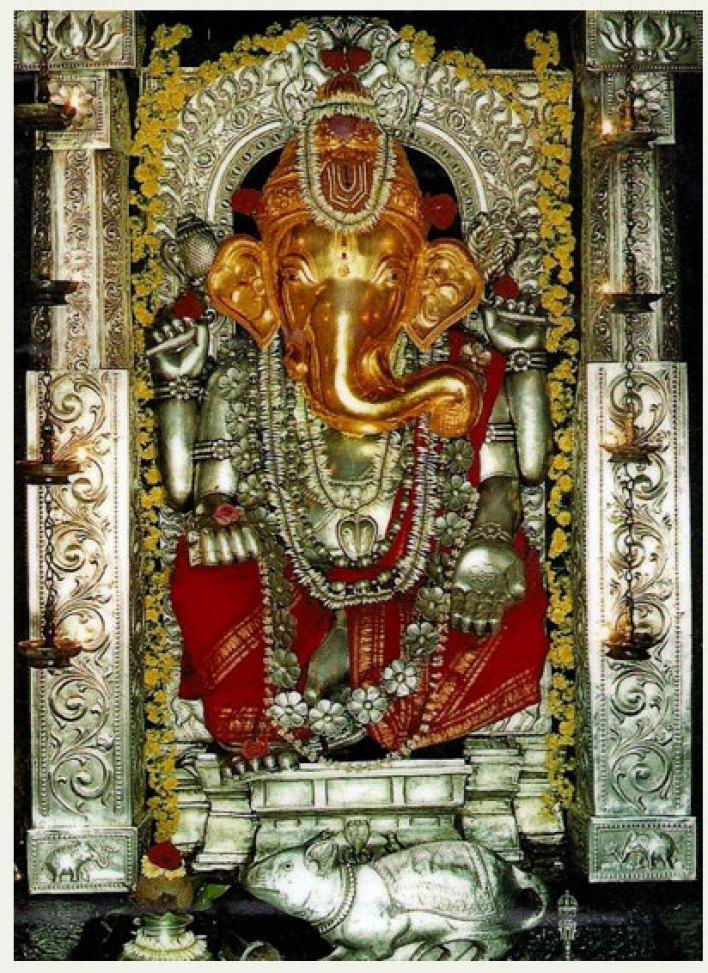 Main idol at Anegudde Sri Vinayaka Temple Anegudde, Kumbhashi