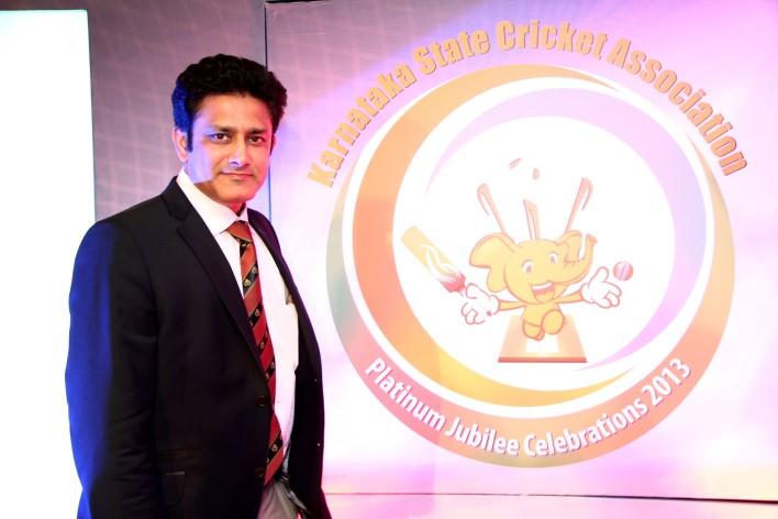 Anil Kumble At KSCA