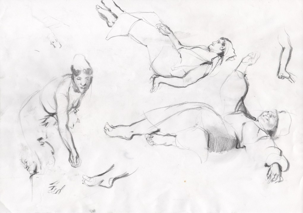 Sketches - Pencil Drawings - Figure Drawing : The sketches of figures I, pencil drawing.