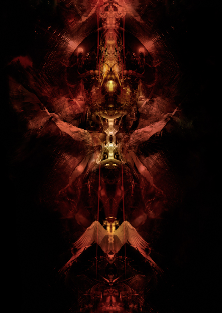 Thanatos: Prelude IV/II, digital painting, 2009. Onirisme Art Illustrations.