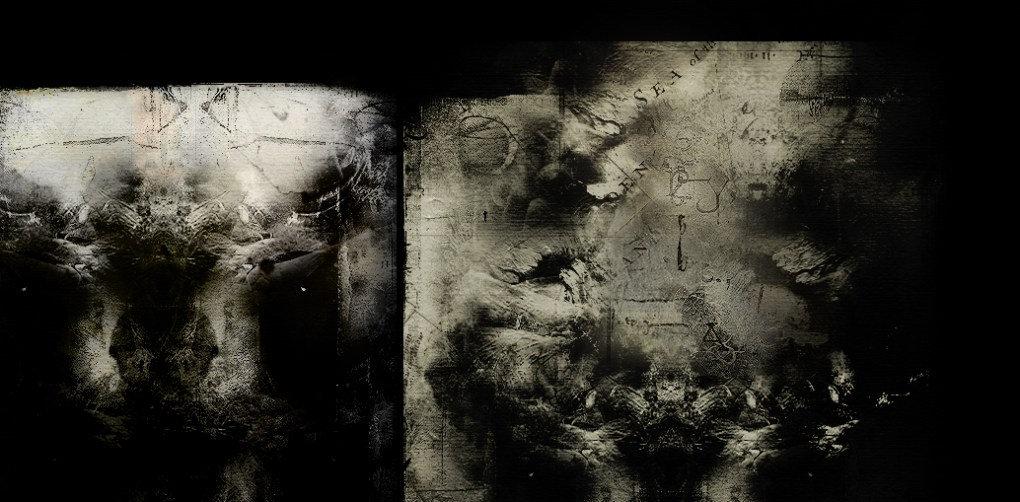 """Cosmic trees XXV, from the """"Cosmic trees"""" cycle - part III, digital painting, 2014. Dark Art."""