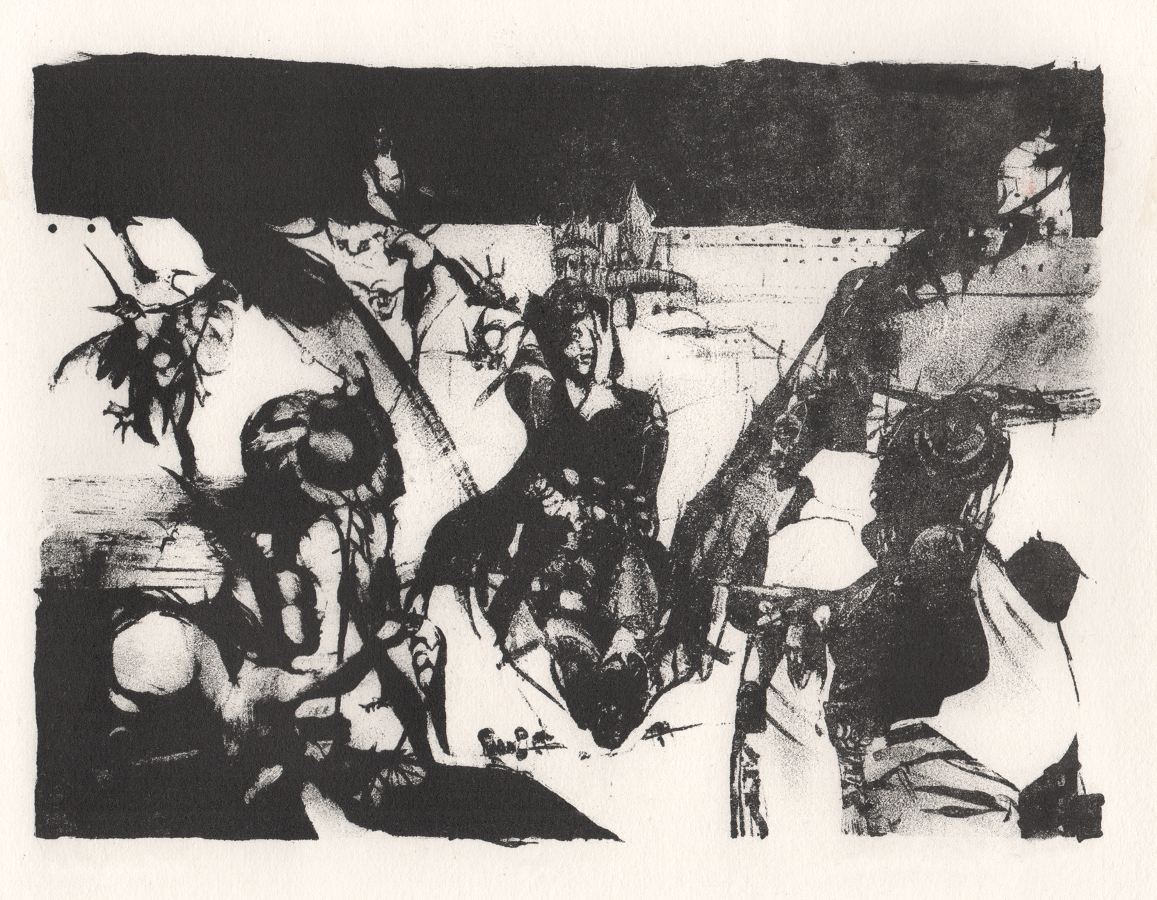 The Art of Printmaking / Graphic Art - Untitled, lithography.