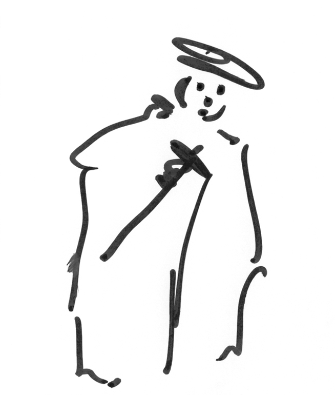 Marker Pen Drawings : The Nobleman, drawing with a marker.