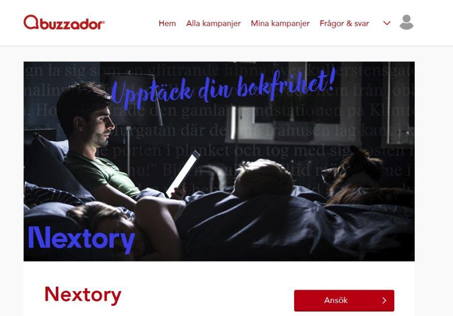 Nextorybuzz Nextory Buzzador