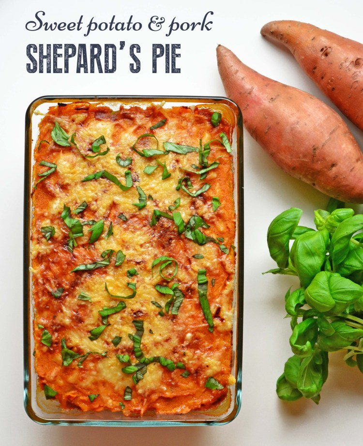 Flavorful Shepard's pie with sweet potato